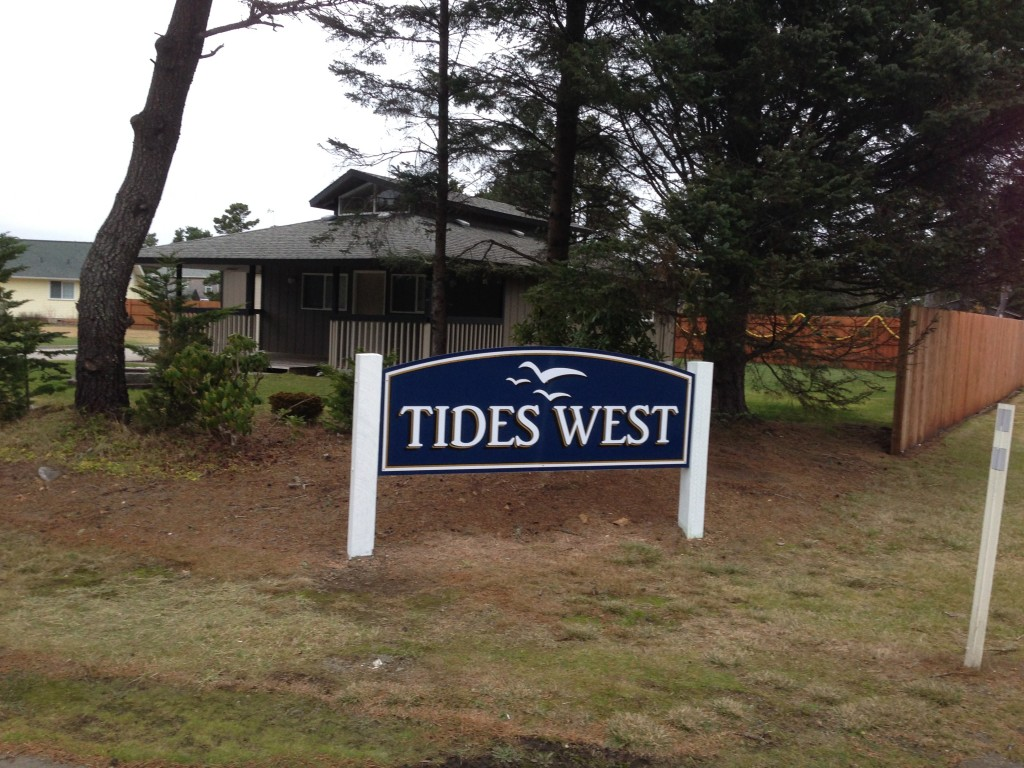 New Tides West Sign